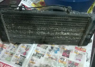 Honda Shadow radiator repair and clean